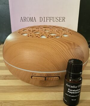 Aroma Diffuser + 1 bottle of Eucalyptus Polybractea